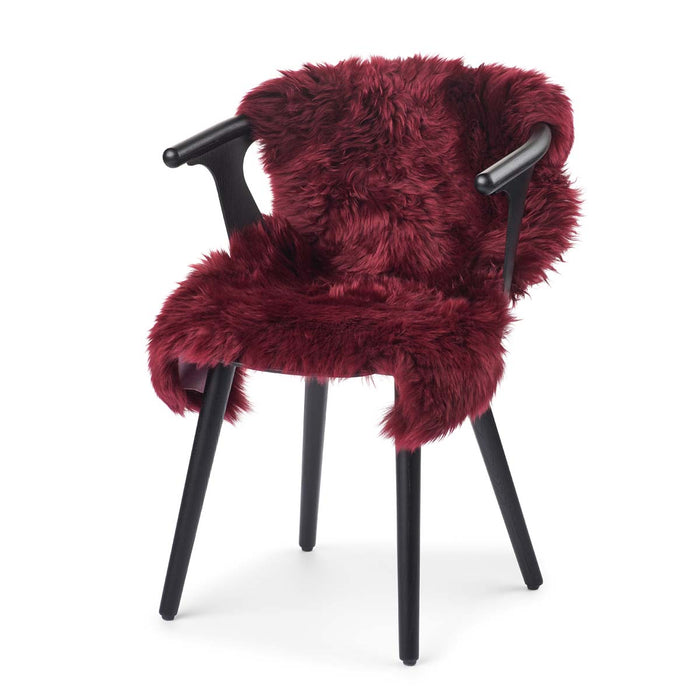NC Living New Zealand Sheepskin - Longwool | 100 cm. Skins Burgundy