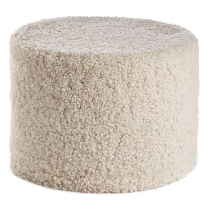 NC Living New Zealand pouf - Shortwool curly | Cylinder | 41x31 cm. Poufs Pearl
