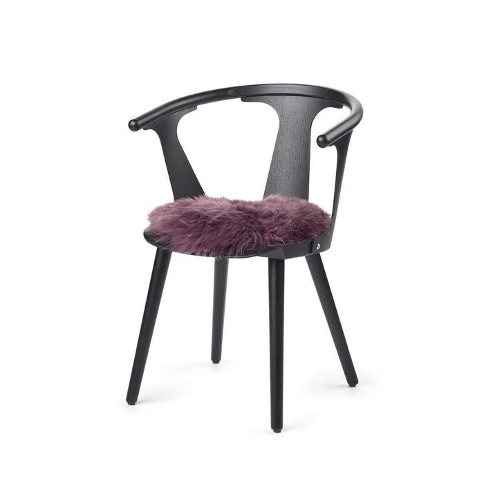 NC Living New zealand Seat Cover - LongWool | Round | 38cm. Seat Covers Aubergine
