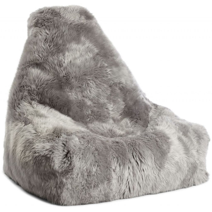 NC Living New Zealand Bean Bag char - LongWool | 100x100x80cm. Bean Bags Light Grey