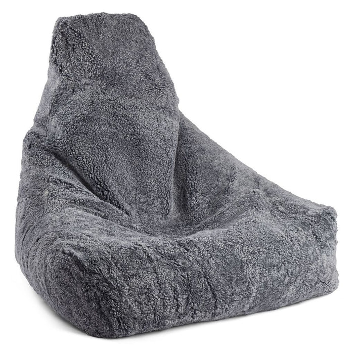 NC Living New Zealand Bean bag chair - ShortWool | 100x100x80cm. Bean Bags Light Grey