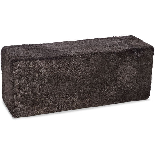 NC Living New Zealand Pouf-Bench - ShortWool Curly | 126x46x40 cm. Poufs Cappuccino