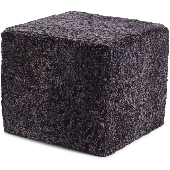 NC Living New Zealand Pouf - Shortwool curly | Square | 40x40x35 cm. Poufs Anthracite