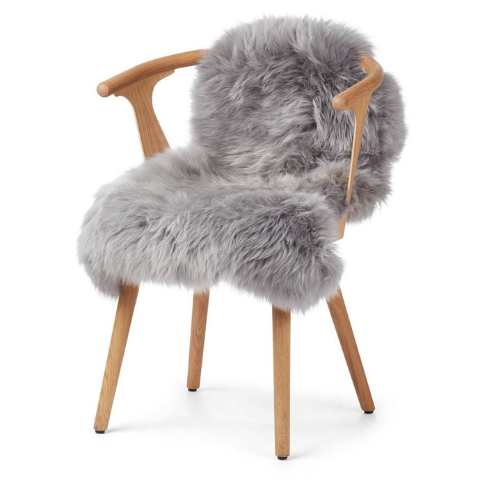 Warm&Comfy New Zealand Sheepskin - Longwool | 100 cm. Skins Light Grey