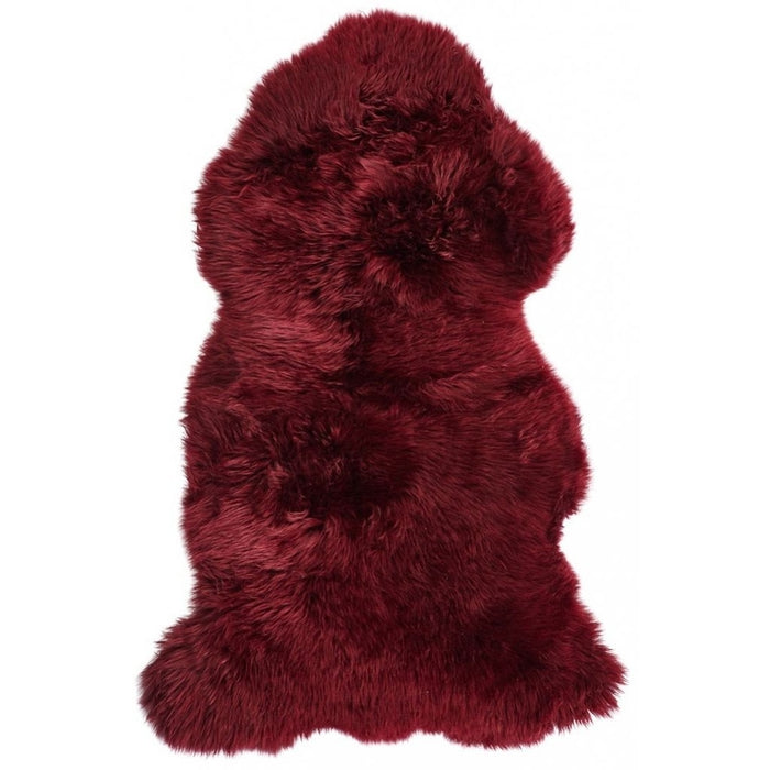 NC Living New Zealand Sheepskin - Longwool | 115 cm. Skins Burgundy