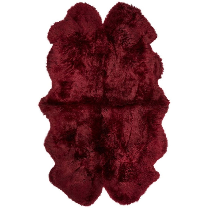 NC Living New Zealand Sheepskin - Longwool | 180x110 cm. Skins Burgundy