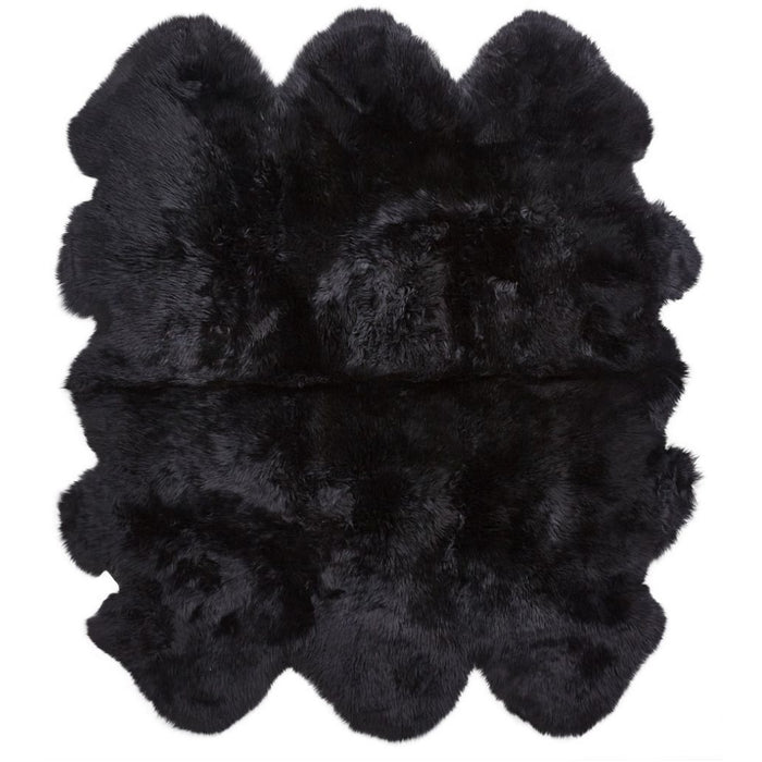 NC Living New Zealand Sheepskin - Longwool | 180x162 cm. Skins Black