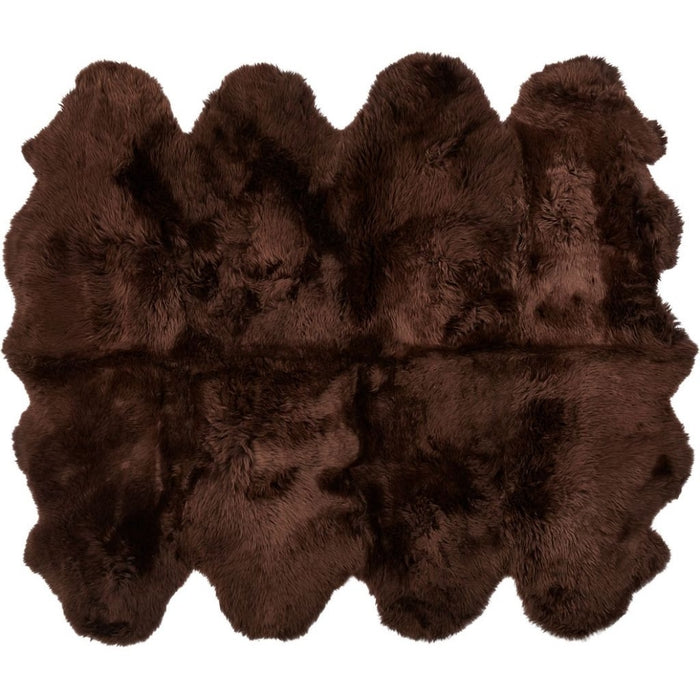NC Living New Zealand Sheepskin - Longwool | 180x214 cm. Skins Chocolate