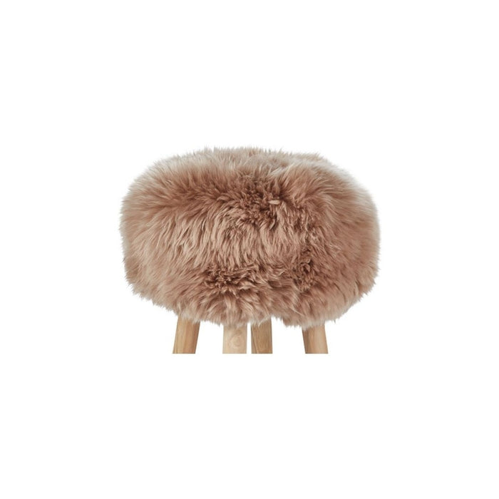 NC Living New Zealand Sheepskin | Stool Cover, D35 x H17 cm Stool Warm Sand
