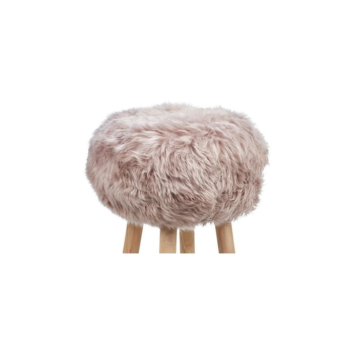 NC Living New Zealand Sheepskin | Stool Cover, D35 x H17 cm Stool