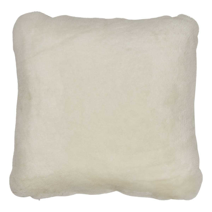 NC Living Premium Quality, New Zealand Cushion, 12mm Moccasin. Size: 40x40 cm Cushions White