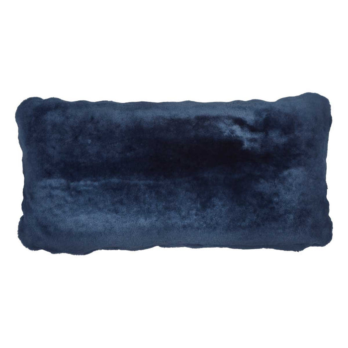 NC Living Premium Quality, New Zealand, Cushion, 12mm Moccasin, Size: 28x56 cm Cushions Navy Blue