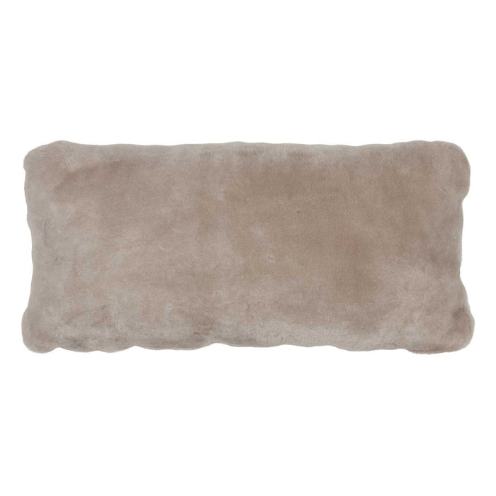 NC Living Premium Quality, New Zealand, Cushion, 12mm Moccasin, Size: 28x56 cm Cushions Silver Grey