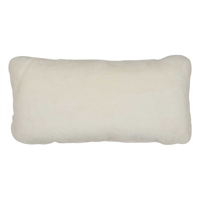 NC Living Premium Quality, New Zealand, Cushion, 12mm Moccasin, Size: 28x56 cm Cushions White