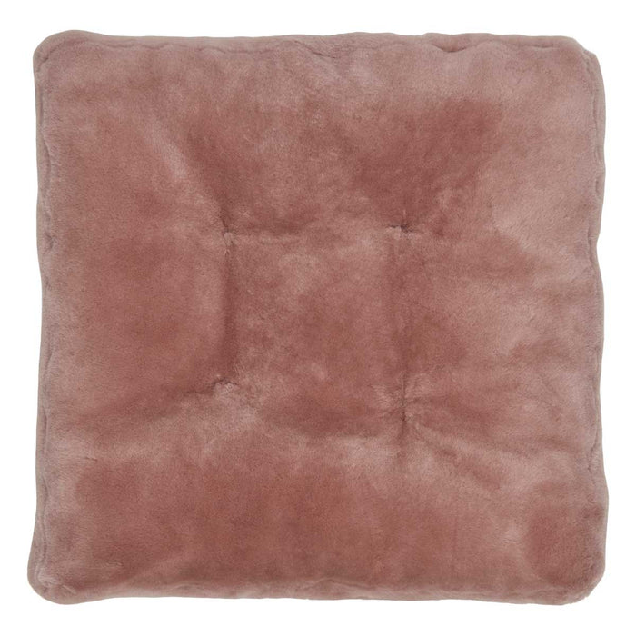 NC Living Premium Quality, New Zealand, Seat Cover, 12mm Moccasin, Calf leather backing, Size: 45x45x5 cm Seat Covers Light Purple