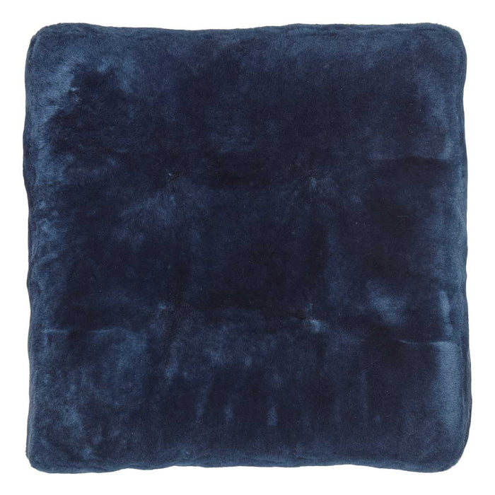 NC Living Premium Quality, New Zealand, Seat Cover, 12mm Moccasin, Calf leather backing, Size: 45x45x5 cm Seat Covers Navy Blue
