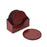 NC Living Round Coaster of Premium Quality Calf Leather. D10 CM. Coaster Red