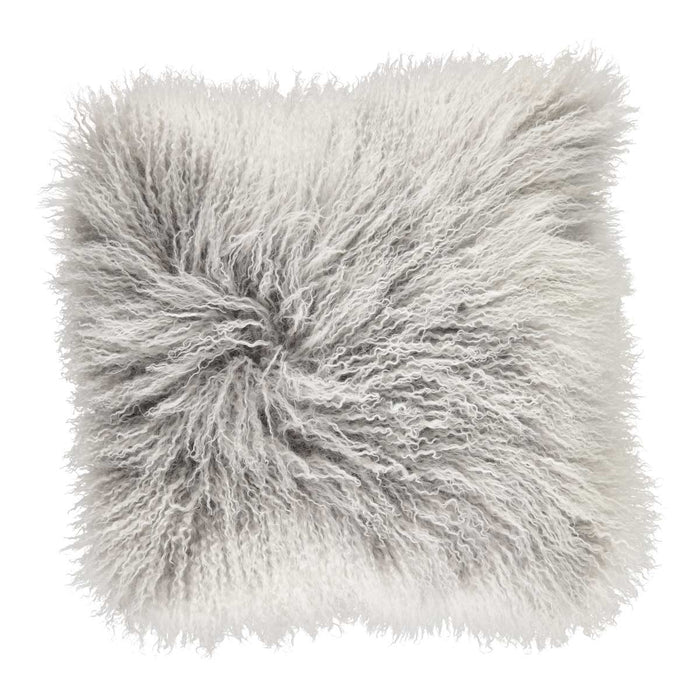 NC Living Cushion | Tibetan Sheepskin | 60x60 cm. Cushions Ash/Snow Top