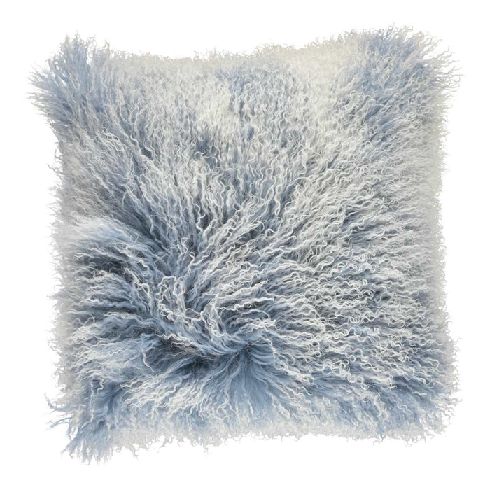 NC Living Cushion | Tibetan Sheepskin | 60x60 cm. Cushions Faded Denim/Snow Top