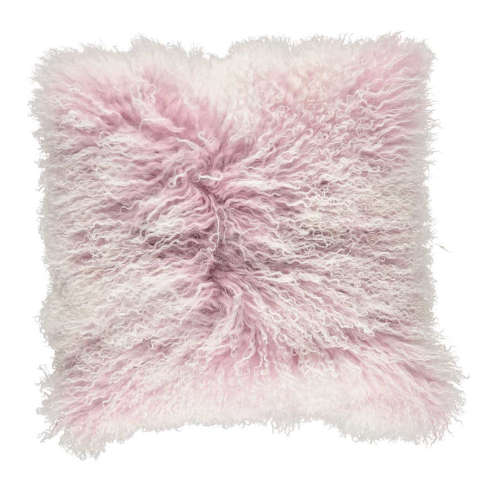 NC Living Cushion | Tibetan Sheepskin | 60x60 cm. Cushions Lilac/Snow Top