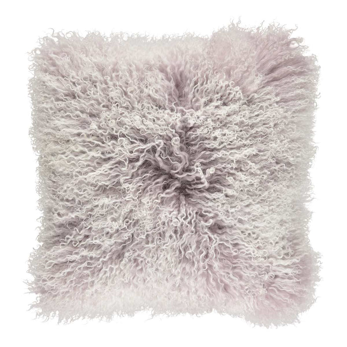 NC Living Cushion | Tibetan Sheepskin | 60x60 cm. Cushions Cloud Grey/Snow Top