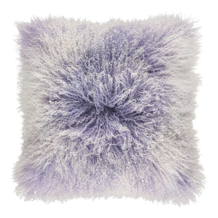 NC Living Cushion | Tibetan Sheepskin | 60x60 cm. Cushions Violet Tulip/Snow Top