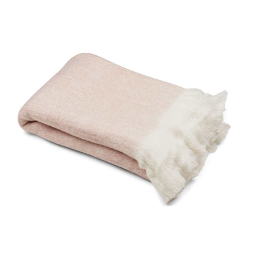 NC Living Throw of mohair wool | 130 x 170 cm. Throws Light Pink