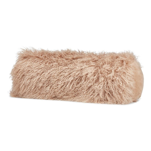 NC Living Tibetan Sheepskin Cushion | Bolster collection | Ø 20, L 52 cm. Cushions Warm Sand