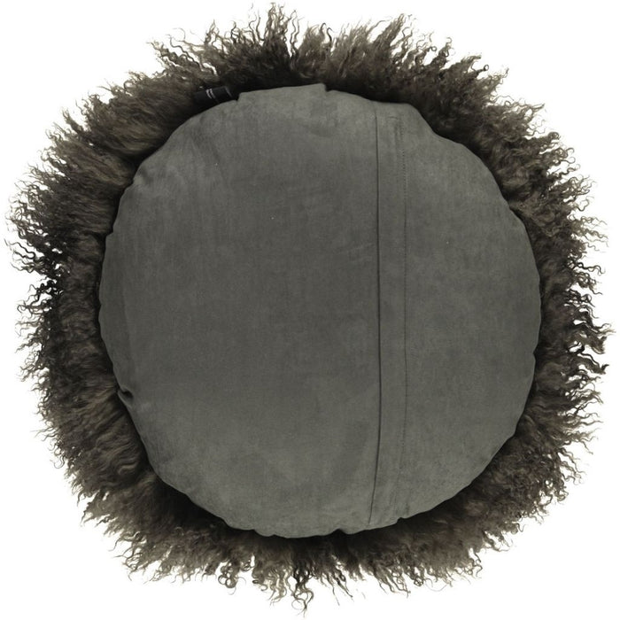 NC Living Tibetan Sheepskin Cushion | Cake Collection | Ø62 Cushions Hedge Green