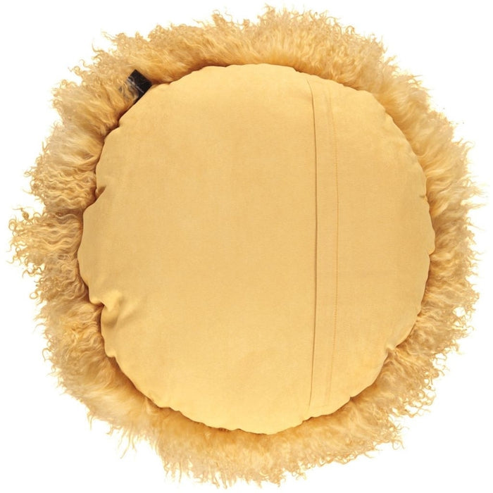 NC Living Tibetan Sheepskin Cushion | Cake Collection | Ø62 Cushions Imperial Yellow