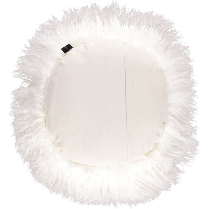 NC Living Tibetan Sheepskin Cushion | Cake Collection | Ø62 Cushions Ivory