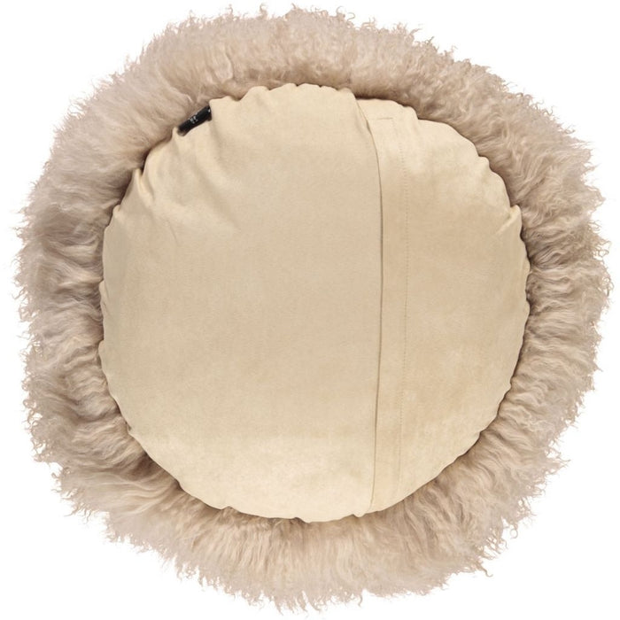 NC Living Tibetan Sheepskin Cushion | Cake Collection | Ø62 Cushions Warm Sand