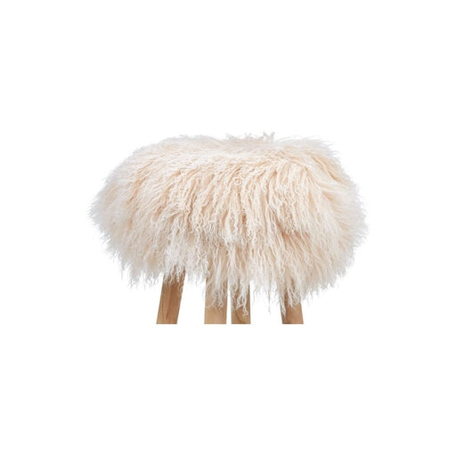 NC Living Tibetan Sheepskin | Stool Cover, D35 x H17 cm Stool Arctic Sunrise