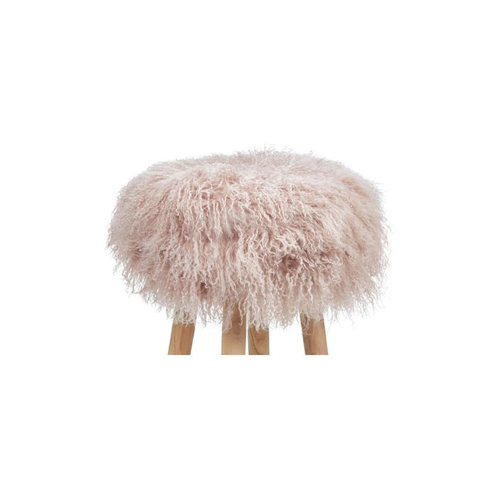 NC Living Tibetan Sheepskin | Stool Cover, D35 x H17 cm Stool Dove