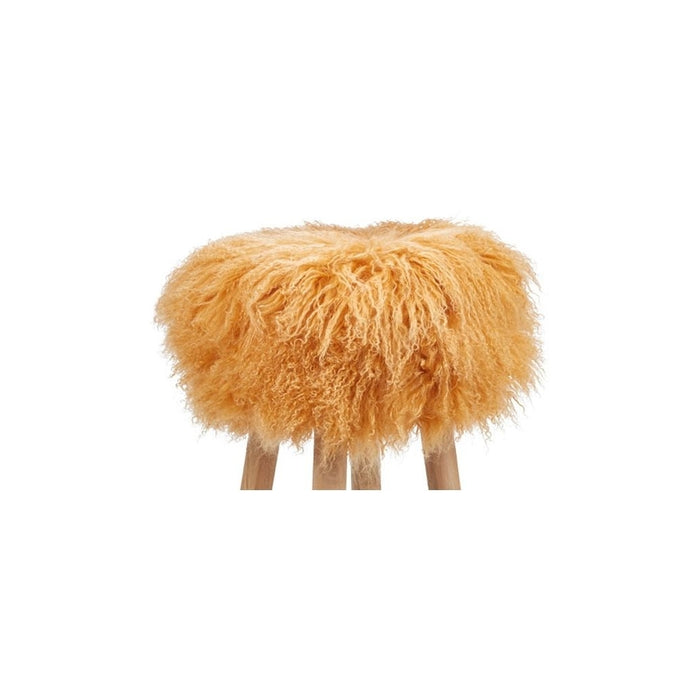 NC Living Tibetan Sheepskin | Stool Cover, D35 x H17 cm Stool Imperial Yellow
