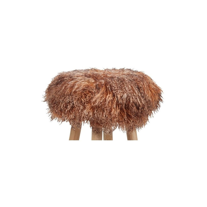 NC Living Tibetan Sheepskin | Stool Cover, D35 x H17 cm Stool Sunset