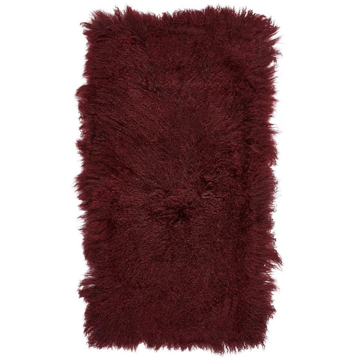 NC Living Tibetan Sheepskin plaid | 60x120 cm. Plaid Burgundy