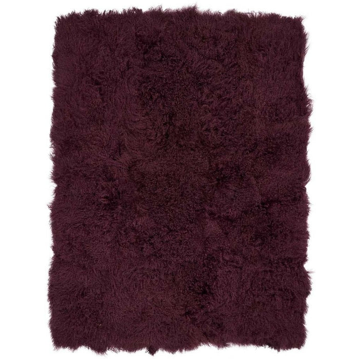 NC Living Tibetan Sheepskin throw | 140x180 cm. Throws Aubergine