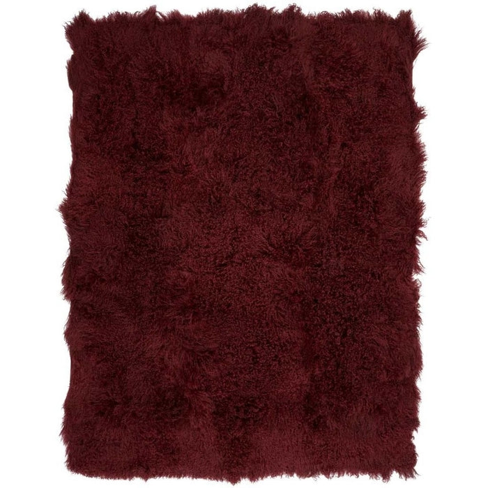 NC Living Tibetan Sheepskin throw | 140x180 cm. Throws Burgundy