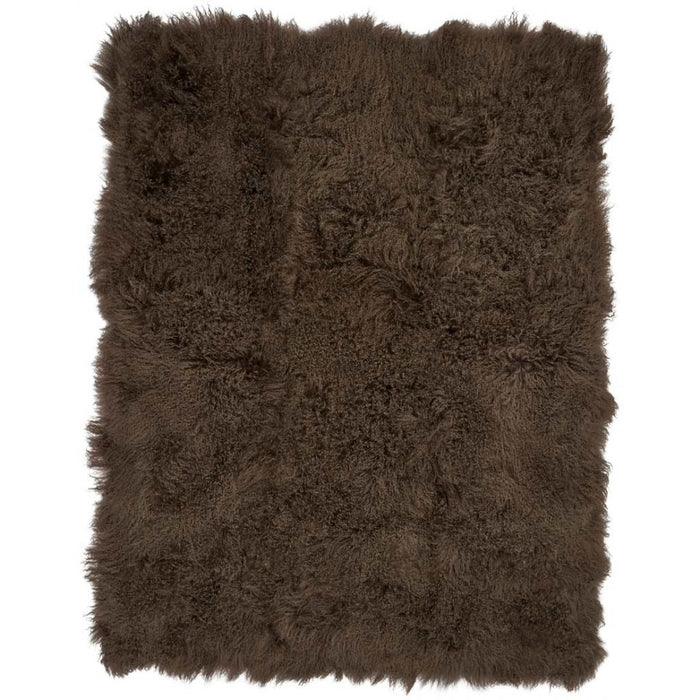 NC Living Tibetan Sheepskin throw | 140x180 cm. Throws Hedge Green