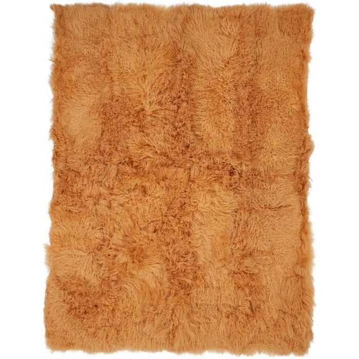 NC Living Tibetan Sheepskin throw | 140x180 cm. Throws Imperial Yellow