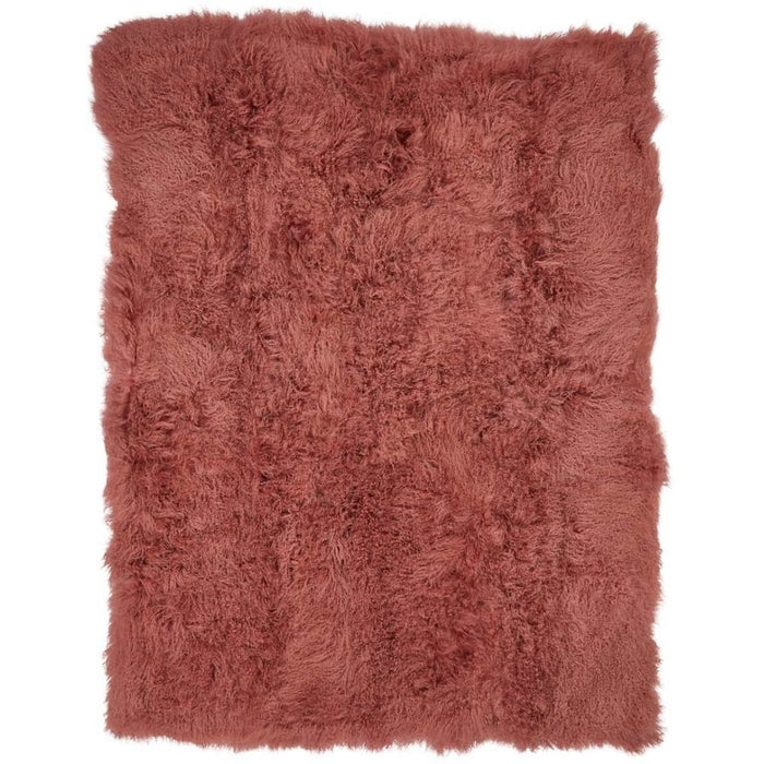 NC Living Tibetan Sheepskin throw | 140x180 cm. Throws Old Rose