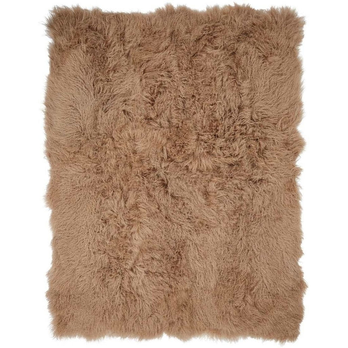 NC Living Tibetan Sheepskin throw | 140x180 cm. Throws Warm Sand