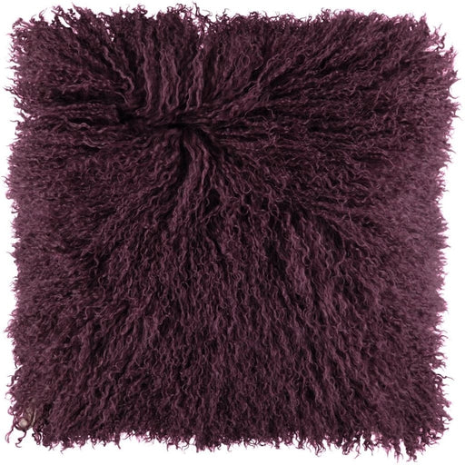 NC Living Tibetan sheepskin Cushion | 40x40 cm. Cushions Aubergine