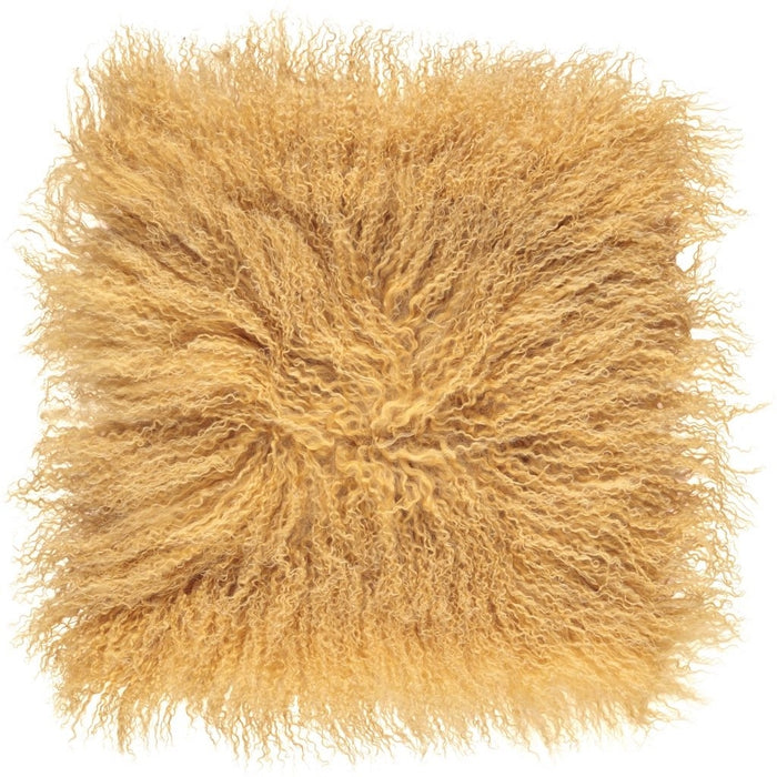 NC Living Tibetan sheepskin Cushion | 40x40 cm. Cushions Imperial Yellow