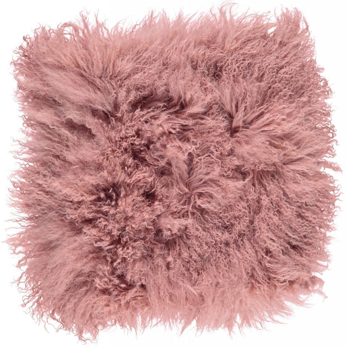 NC Living Tibetan sheepskin Cushion | 40x40 cm. Cushions Old Rose