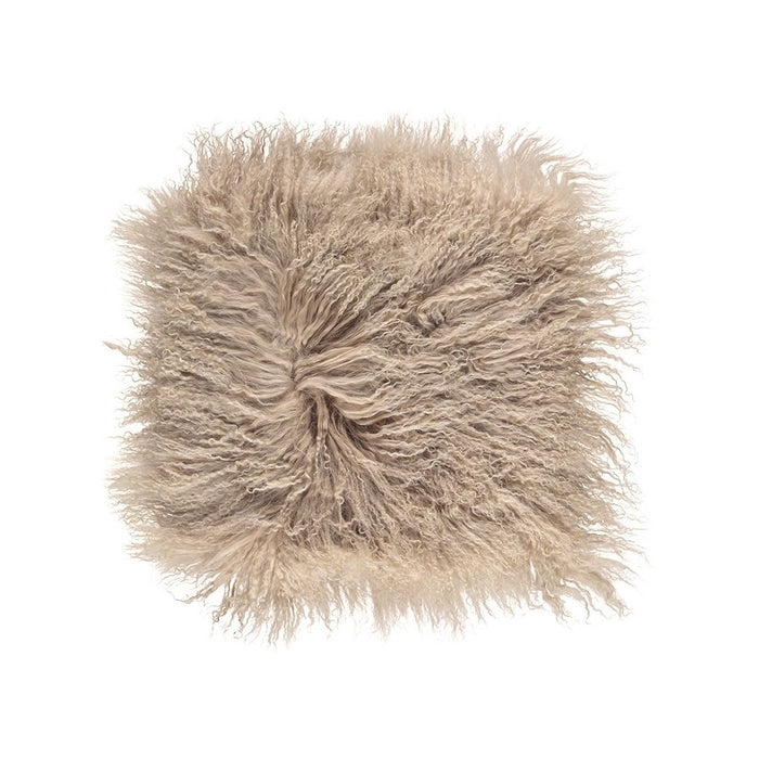 NC Living Tibetan sheepskin Cushion | 40x40 cm. Cushions Warm Sand