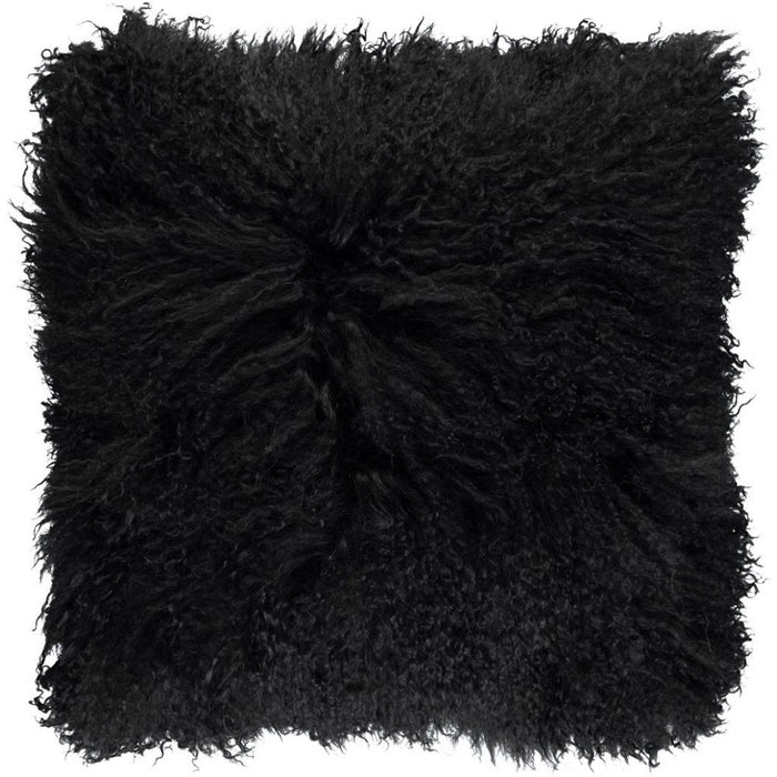 NC Living Tibetan sheepskin Cushion | 40x40 cm. (double sided) Cushions Black