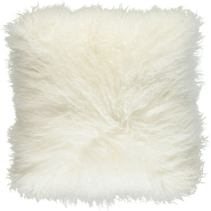 NC Living Tibetan sheepskin Cushion | 40x40 cm. (double sided) Cushions Ivory
