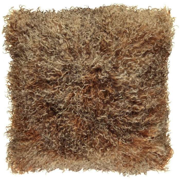 NC Living Tibetan sheepskin Cushion | 40x40 cm. (double sided) Cushions Sunset